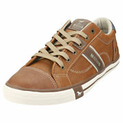Mustang Sneaker Low Mens Cognac Synthetic Casual Trainers