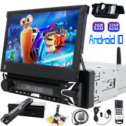 7 Android 10 Single 1din Car Stereo Radio Gps Wifi Dvd Aux Touch Screen Camera