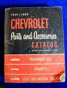 1929-1958 Chevrolet Parts And Accessories Catalog Bowtie Accessory Gm Book
