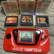 Sega Game Gear Coca-cola Edition Console Tested From Japan Used