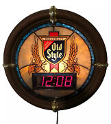 Vintage Heilemanandrsquos Old Style Beer Clock 1988