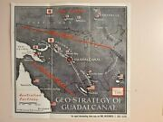 Vintage Time Magazine Wwii Map By R. M. Chapin X Mark's The Spotjanuary 31 5