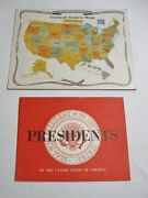 1960's Presidents Of The Usa Booklet And Us Map Puzzle-gold Medal Flour