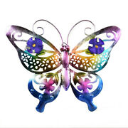 Stained Beautiful Cut-out Metal 3d Butterfly Wall Art Home Outdoor Decoration