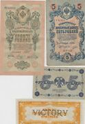 Kappyscoins W6510 Estate Currency Collection 24 Old World Wide Bank Notes