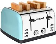 Ifedio Toaster 4 Slice Extra Wide Slots Stainless Steel Toasters The Best 4 Slic