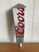 """Coors Light Aluminum Beer Tap Handle Tall 12"""" Pub Silver"""
