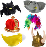 6 Pc Assorted Funny Party Hats Photo Booth Props – Bulk Costume –adult Dress Up
