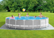 Intex 18ft X 48in Prism Frame Pool Set With Filter Pump Ladder Ground Cloth