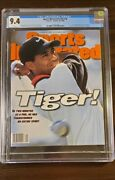Tiger Woods Sports Illustrated Cgc 9.4 Rookie 1st First Cover 10/28/1996 October