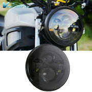 7inch Dot Round Led Headlight Hi/lo Beam Projector Sealed H4 For Motorcycle