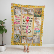 Personalized Blanket With A Photo, Fleece Blanket Custom For Mom, Mother's Day