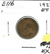E116 Canada 1c - 1 Cent Coin 1927 Extremely Fine Charlton 12.00 - Buy It Now