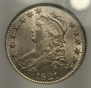 1821 Capped Bust Half Dollar Ngc Au-58 Coin Is Uncirculated Undergraded 63 Pq+