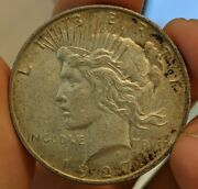 1927-d Peace Dollar Unc Uncirculated Toned Silver Coin Pq+ Estate Collection