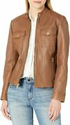 Cole Haan Womenand039s Leather Trucker Jacket - Choose Sz+color