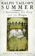 Ralph Tailorand039s Summer A Scrivener His City And The Plague Hardcover By W...