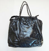 Chain Shoulder Bag Matelasse Vintage Leather Black Women And039s Tote Hand