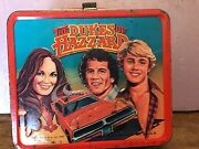 Aladdin The Dukes Of Hazzard Vintage Metal Lunch Box 1980 Tv Show With Thermos