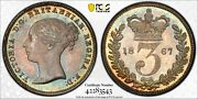 1867 Great Britain 3 Pence Threepence 3d S-3918 Pcgs Pl65+ Pop 1 None Higher