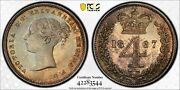 1867 Great Britain 4 Pence 4d Maundy Pcgs Pl66 Km 732 Pop 4 None Higher