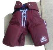Nhl Colorado Avalanche Reverse Retro Warrior Pro Stock Issued Pants Size Large