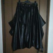 Comme Des Garcons Long Skirt Size Xs Polyurethane Resin Black Ladies Pre-owned