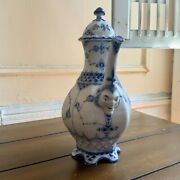 Royal Copenhagen Blue Fluted Full Lace Coffee Pot 1030, 1st Quality From Pre1923