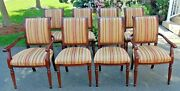 Vintage Antique Set Of 8 -dining Room Upholstered Chairs From Brampton Galleries
