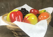 Beautiful Vintage Murano Style Blown Glass Fruit And Vegetables 7 Pieces