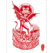 The Adversary By Charlie Coffin Devil Baphomet Tattoo Unframed Canvas Art Print