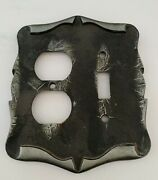 Vintage Amerock Carriage House Outlet And Switch Cover Plate Combo Nickel Color