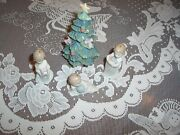Lladro Set Of 3   Figures Ornaments - And A Llardo Tree With Boxes