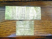 Historic Vietnam Gold Wafer Bars 234 Grams Of Pure Gold. Used By Refugees Rare