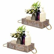Farmhouse Bathroom Decor Box,toilet Paper Storage Stand,2 Side With Brown