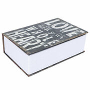 Mini Simulation Dictionary Book Money Box With Combination Lock Safe Household