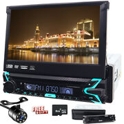 7 Single 1 Din Car Cd Dvd Player In Dash Stereo Lcd Touch Screen Backup Radio