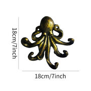 Bedroom Octopus Shape Wall Mounted Accessories Cast Iron Kitchen Decorative Hook