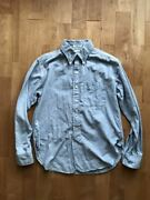 Engineered Garments 19th Bd Shirt Cotton Oxford Light Blue Color Size Xs Used