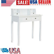 Large Storage W/4drawers Secretary Table Computer Desk Writing Table Home Office