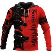 Viking Wolf Red Sons Of Odin 3d Hoodie All Over Print Size S-5xl Best Price