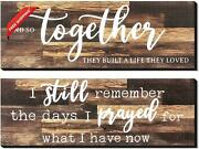 I Still Remember The Days I Prayed Modern Farmhouse Decor Rustic Wood Sign And S