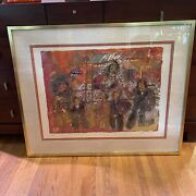 Theo Tobiasse Abstract Mid Century Pencil Signed And Numbered Large Lithograph