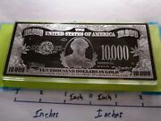 4 Oz 10,000 Chase Federal Reserve Gold Note 999 Silver Money Bar Very Nice Rare