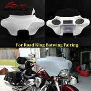 Motorcycle Fiberglass Batwing Fairing With Stereo 6x9 Speakers For Road King 94+
