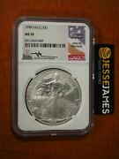 1998 American Silver Eagle Ngc Ms70 John Mercanti Signed Beautiful Coin Low Pop