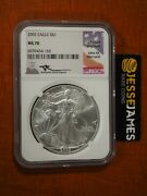 2002 American Silver Eagle Ngc Ms70 John Mercanti Signed Beautiful Coin Low Pop