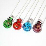 Flat Or Ball Murano Glass Bottles Jewelries Necklace With Stainless Steel Chain