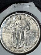 1917 P Type 1 Standing Liberty Quarter High Ms Coin. Best I've Seen Yet Type 1