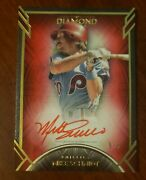 2021 Diamond Icons Mike Schmidt 5/5 Red Ink On Card Auto Phillies